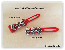 Limted Edition !!!! Skulls (3) on perlmut red bow