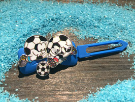 """MotivHundehaarSpange   """"  Doppelfußball Kick   """""""