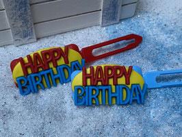 "HundeHaarSpangen "" Happy Birthday Schriftzug Nr 01 """