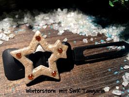 """HundehaarSpange """" Christmas Star White Glitter  Nr . 9"""