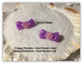 "Süße Baby Schleifchen  ""Mini Blume lila ""  / Puppy "" Mini Flower Lilac """