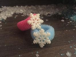 Zopfgummi: Schneeflocke Nr. 1