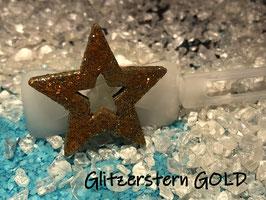 """HundehaarSpange  """" GlitzerStern  GOLD  """""""