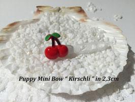 "HundeHaarSpange Mini Puppy Bow   ""  Kirschli """