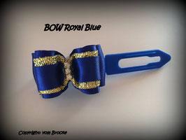 """Schleife """" Classic Bow  Blue  mit Goldstreifen """""""