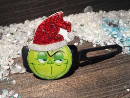 WeihnachtsMotiv HundeHaarSpange  GRINCH