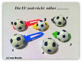 HundeHaarSpange  Fußball schwarz /weiß