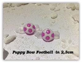 """HundeHaarSpange Mini Puppy Bow   """" Fußball Flieder   """""""