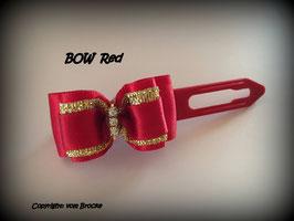"""Schleife """" Classic Bow Red mit Goldstreifen """""""