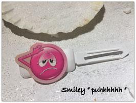 """Emotion / Smiley HundeHaarSpange  """" puhhhhhhhhh """""""