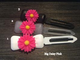 "Hundehaarspange  Blume "" Big Daisy Pink Nr.1 """
