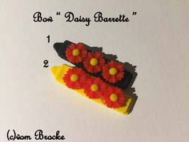 HundeHaarSpange Blume rot  Nr. 11 French Daisy(3) Barrette