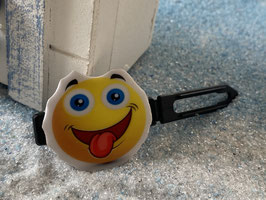 "Emotion / Smiley HundeHaarSpange  "" Happy Zungensmiley """