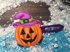 """Halloween Bunte Motivspange """" Lachender Kürbis 2 """""""