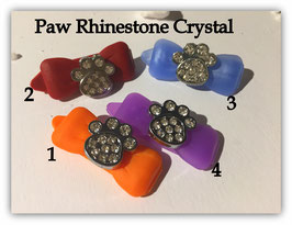 """HundeHaarSpange mit MetallApplikation """" Special Edition Paw Crystal """""""