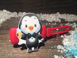 """Silvester MotivHundeHaarSpange """" Pingu Happy New Year """""""