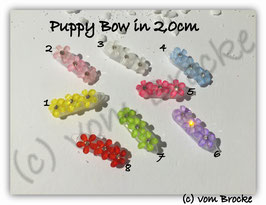 "HundeHaarSpange Mini Puppy Bow   "" 3 Flowers   """