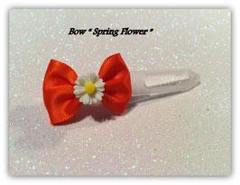 "Ausstellungs- / Stoffschleife  "" Spring Bow  Daisy  White"" No 6"