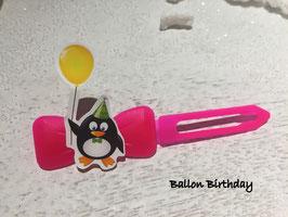 "HundeHaarSpange  Pinguin  "" Ballon Birthday """