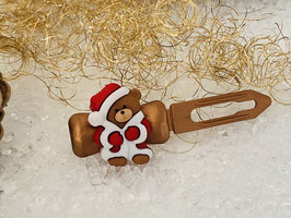 """Klassische WeihnachtshundehaarSpangen  """"  Weihnachtsbär  1 """""""