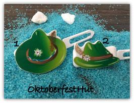 """HundehaarSpange  """" Oktoberfest Motiv """" WiesenHut grün  Set  grün Nr 5 """""""