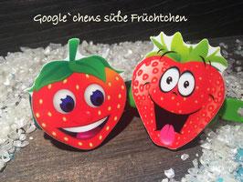 """Hundespange Süße Früchtchen """" Google´s Erdbeeren """""""