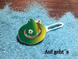 """HundehaarSpange  """" Oktoberfest Motiv """" WiesenHut grün Nr 4 """""""