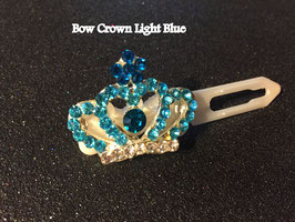 "HundeHaarSpange mit MetallApplikation  "" Crown Light Blue  """