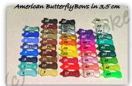 American  Butterfly / Kunststoff HundeHaarSpangen  in 3,5cm Breite