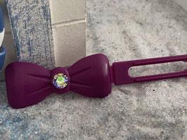 "Kunststoff HundehaarSpange/ SWK  "" Glamour American Butterfly  Dog Bow Nr 3 Magenta """