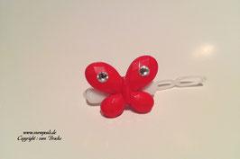 SchmetterlingWelpen HundehaarSpange  Nr. 5 rot  mit und ohne  SWK