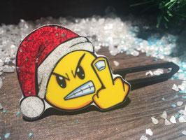 """WeihnachtsMotiv HundeHaarSpange  """" WeihnachtsSmiley STINKY """""""