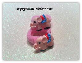 Zopfgummi Set Rosa Elefant