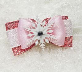 SchneeflockenSchleife rosa 1