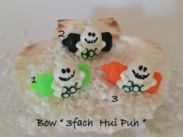 "Bunte Halloween HundehaarSpangen "" Nr  3 Ghost """