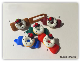 "HundeHaarSpangen "" Birthday White Cookie  """