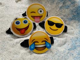 """Emotion / Smiley HundeHaarSpange  """" 4er Set 6 """""""