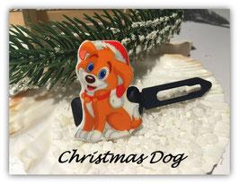 """WeihnachtsMotiv HundeHaarSpange """" Christmas Dog """""""