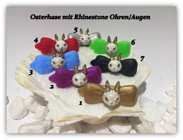 "Oster HundeHaarSpange  "" Rhinestone OsterHasenkopf    """