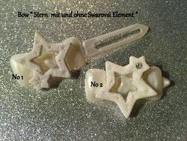 """HundehaarSpange """" Christmas Star White Glitter  Nr . 1"""