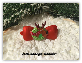 "WeihnachtsMotiv HundeHaarSpange "" Elchkopf  """