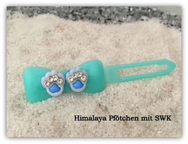 "HundeHaarSpange  "" Himalaya Gitter Paws Blue """