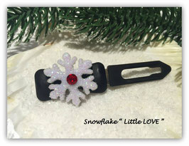 "HundehaarSpange Snowflake "" Little LOVE """