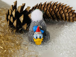 Wintermützchen mit Donald und Mützchen mit Rhinestone Grau