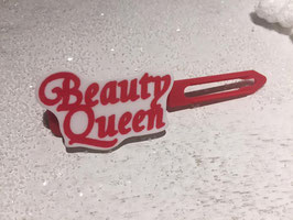 "Motiv HundehaarSpange "" Beauty Queen  Rot  """