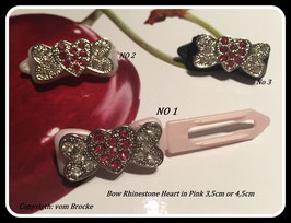 """HundeHaarSpange mit MetallApplikation """"  Flying Heart in Pink """""""