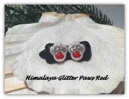 "HundeHaarSpange  "" Himalaya Glitter Paws Red """