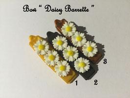 HundeHaarSpange Blume 3 Gold/Braun/Bronze Töne  Nr. 18 French Daisy(3) Barrette