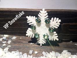 "Limitierte Edition:  HundehaarSpange Schneeflocke  : "" VIP Glamour Snowflake """