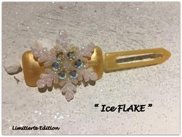 "Limitierte Edition:  HundehaarSpange Schneeflocke  : "" Ice FLAKE Gold """